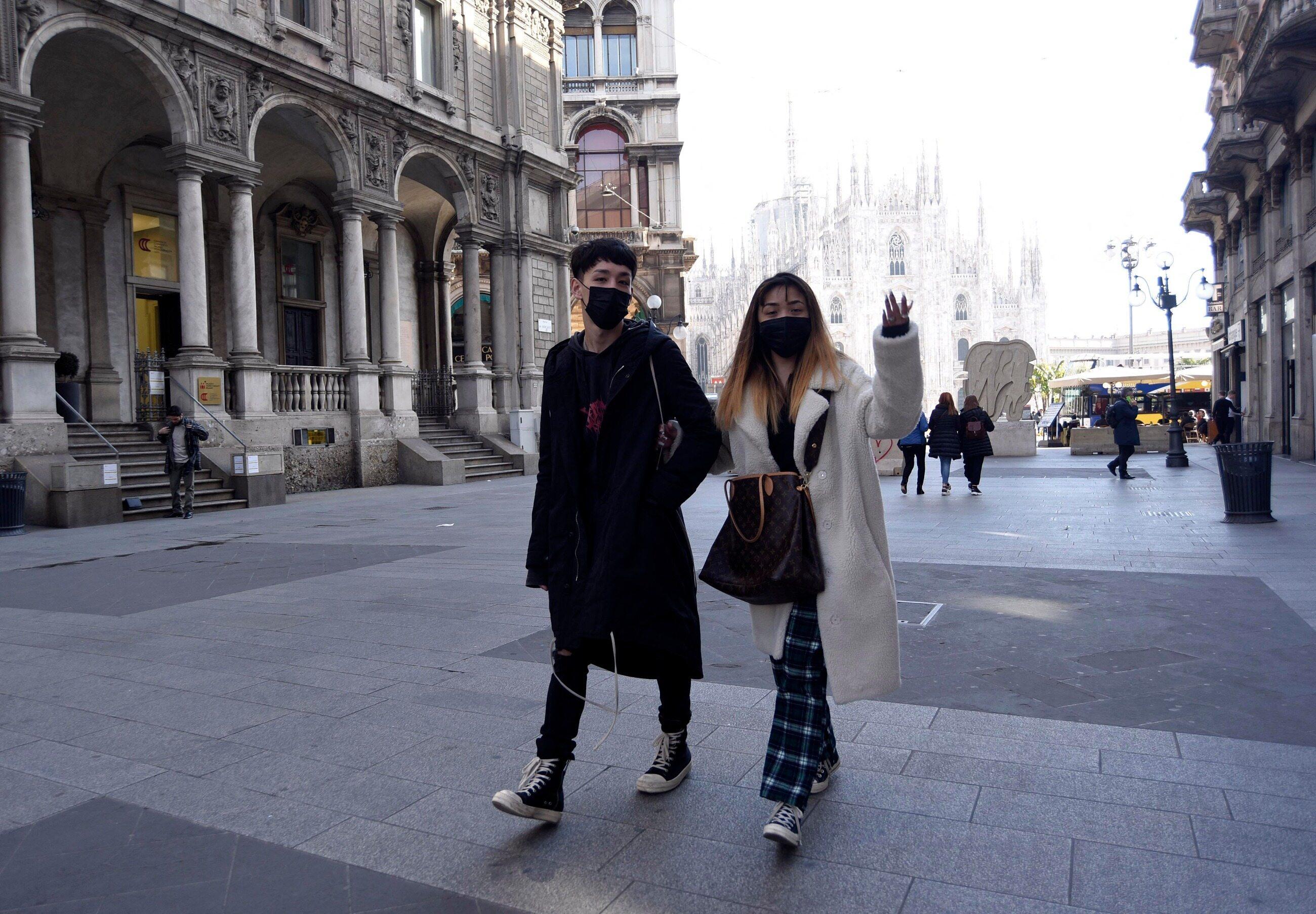 Turyści we Włoszech