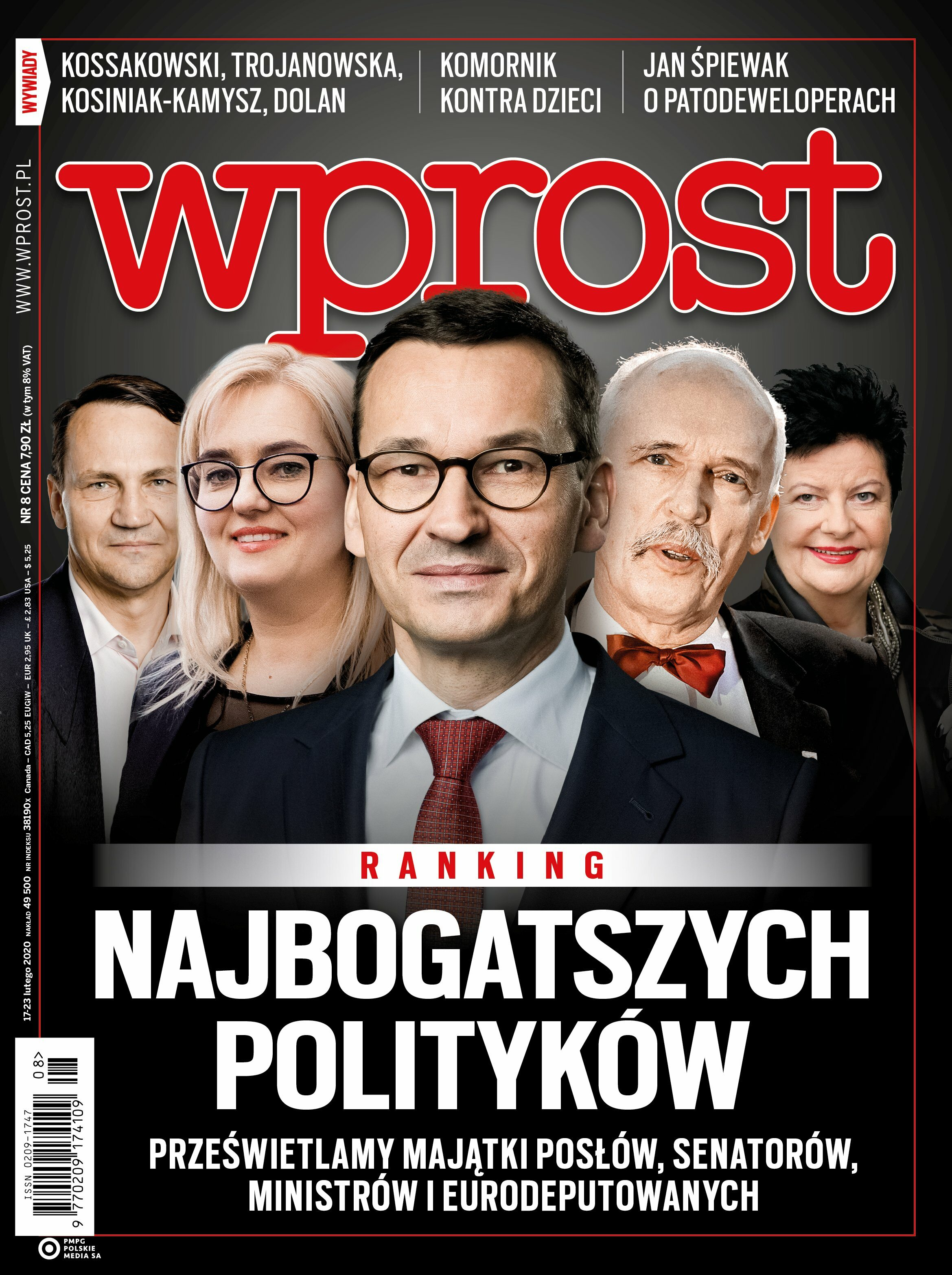 Tygodnik WPROST 8/2020 - Okładka