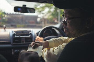 Uber, kierowca, zdj. ilustracyjne
