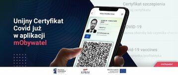 Unijny Certyfikat COVID-19 w aplikacji mObywatel