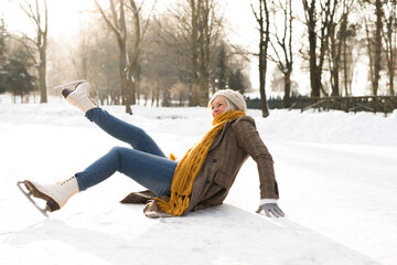 Upadek na łyżwach