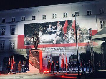 Uroczystość odsłonięcia pomnika prezydenta Lecha Kaczyńskiego
