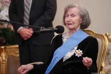 Uroczystość przyznania Orderu Orła Białego Zofii Posmysz-Piaseckiej