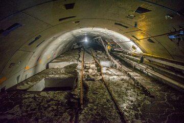 """Uszkodzony tunel prowadzący do oczyszczalni """"Czajka"""""""