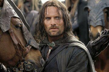 Viggo Mortensen w roli Aragorn