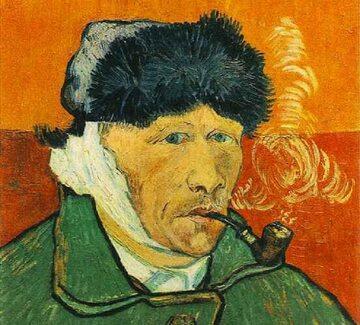 Vincent van Gogh, Autoportret z zabandażowanym uchem i fajką. Obraz powstał po kłótni autora z Paulem Gauguinem