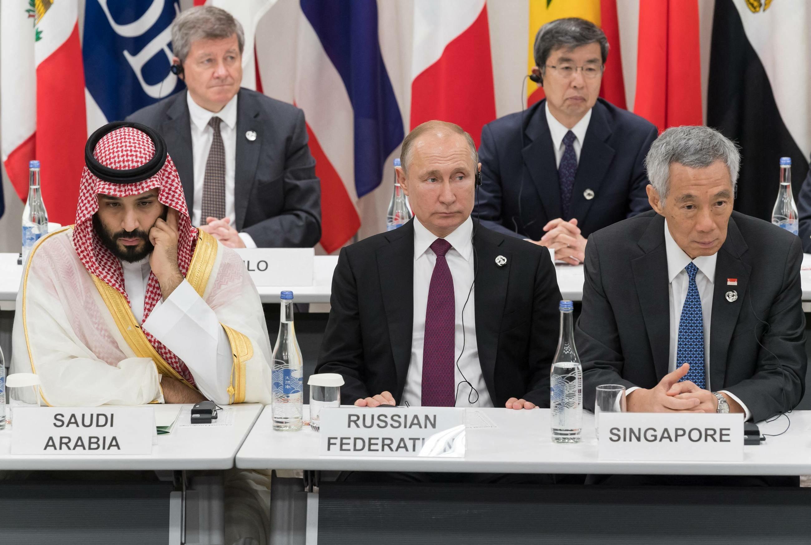 Wałdimir Putin na G20 w Osace