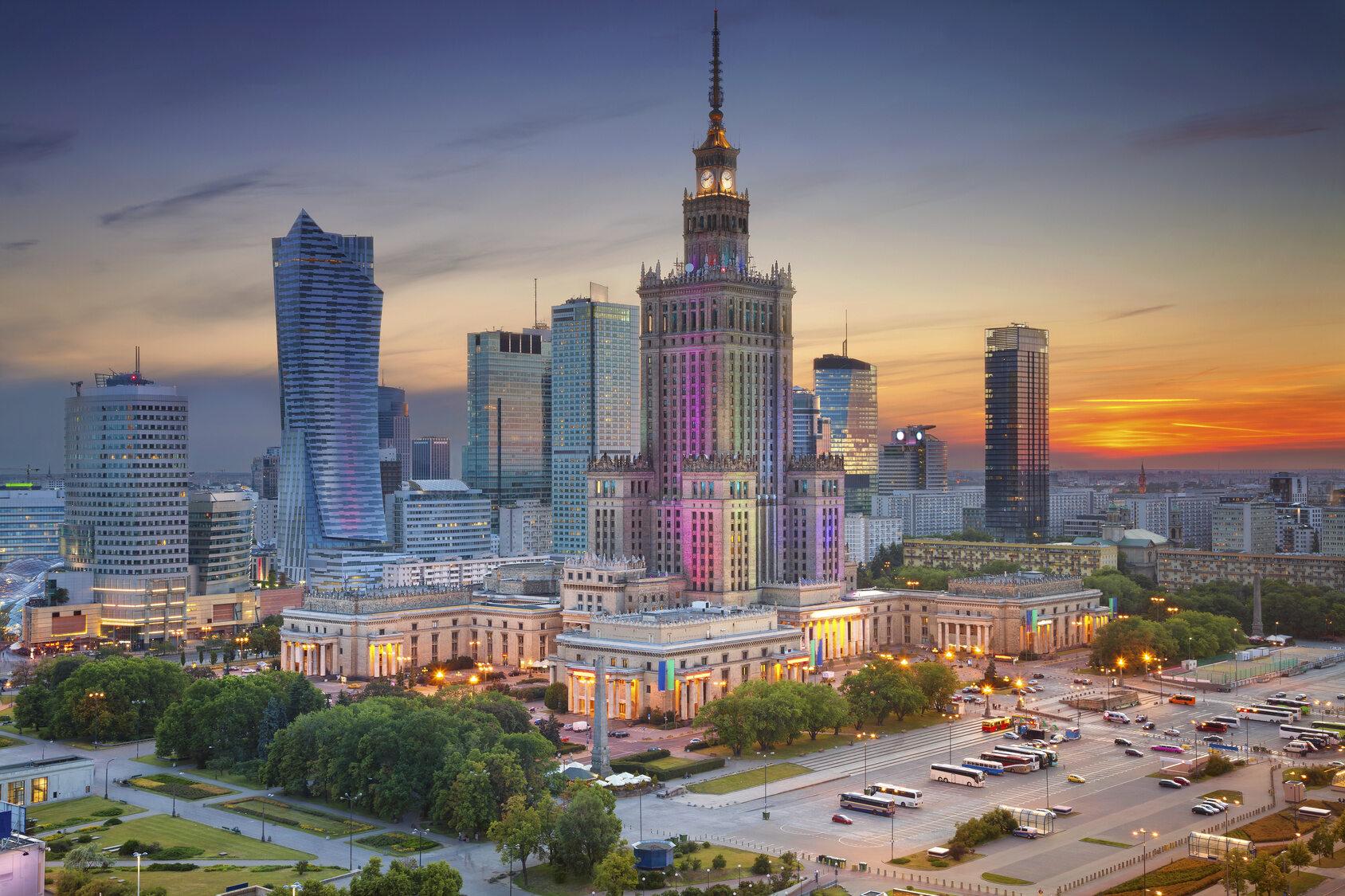 Warszawa, widok na Pałac Kultury