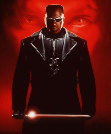 "Wesley Snipes w filmie ""Blade"""