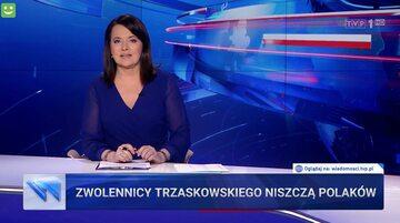 """""""Wiadomości"""" TVP z 10 lipca 2020. Pasek """"Zwolennicy Trzaskowskiego niszczą Polaków"""""""