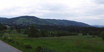 Widok z Kościeliska na Butorowy Wierch i Gubałówkę
