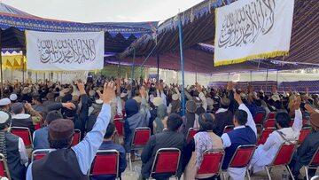 Wiec poparcia dla talibów w Kabulu