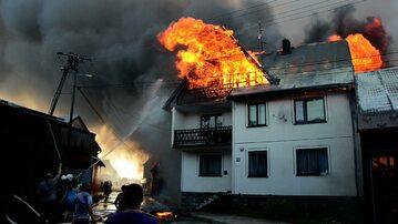 Wielki pożar w Nowej Białej