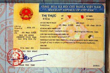 Wietnamska wiza (zdj. ilustracyjne)