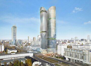 Wieżowiec na Srebrnej, wizualizacja