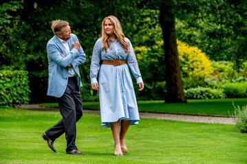 Willem-Alexander i księżniczka Amalia
