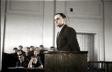 Witold Pilecki w trakcie procesu