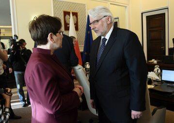 Witold Waszczykowski i Beata Szydło