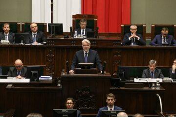 Witold Waszczykowski podczas wygłaszania expose w Sejmie