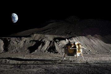 Wizja artystyczna łądownika księżycowego