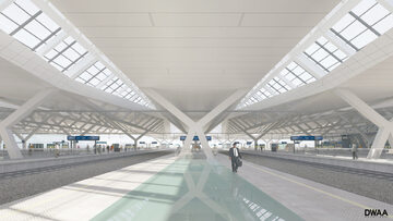 Wizualizacja wyglądu Dworca Zachodniego po modernizacji