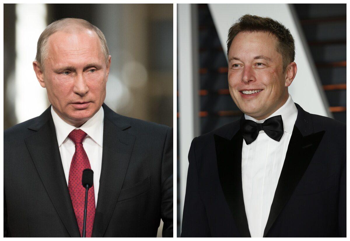 Władimir Putin i Elon Musk