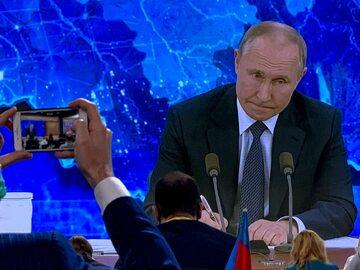 Władimir Putin podczas corocznej grudniowej konferencji prasowej