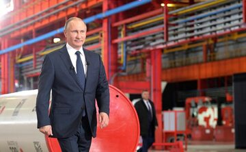 Władimir Putin w Czelabińsku