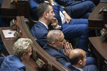 Władysław Kosiniak-Kamysz, Grzegorz Schetyna i Borys Budka w Sejmie