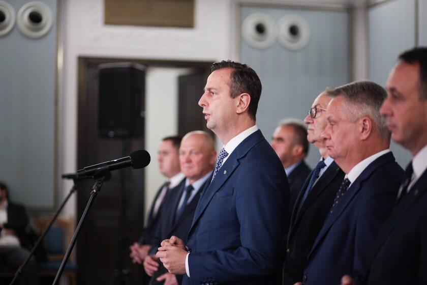 Władysław Kosiniak-Kamysz na konferencji PSL-u w Sejmie