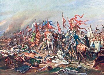 Władysław Łokietek po bitwie pod Płowcami