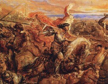 Władysław Warneńczyk na obrazie Bitwa pod Warną Jana Matejki
