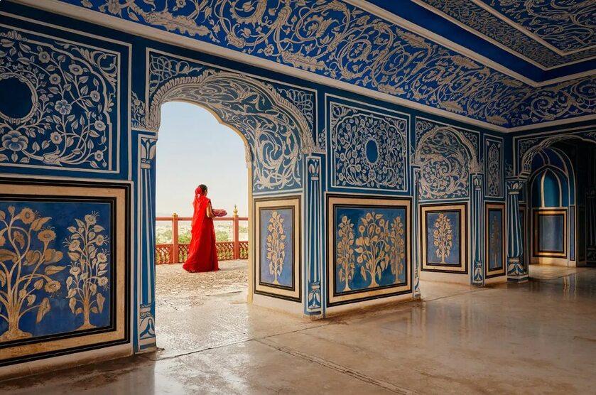 Wnętrza apartamentu pałacu w Jaipur. Do wynajęcia na Airbnb