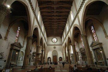 Wnętrze bazyliki Santa Croce