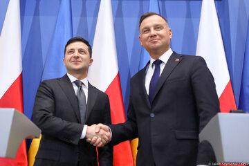 Wołodymyr Zełenski i Andrzej Duda