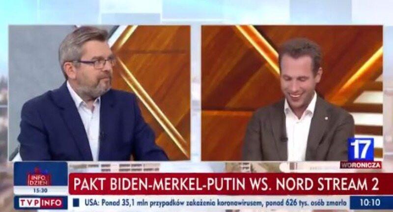 """Nord Stream 2 i Lex TVN w TVP Info. Poseł KO wywołał śmiech, Suski zaliczył wpadkę. """"Pan bredzi"""