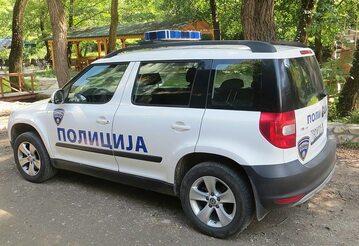 Wóz macedońskiej policji