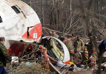 Wrak Tu-154 po katastrofie w Smoleńsku