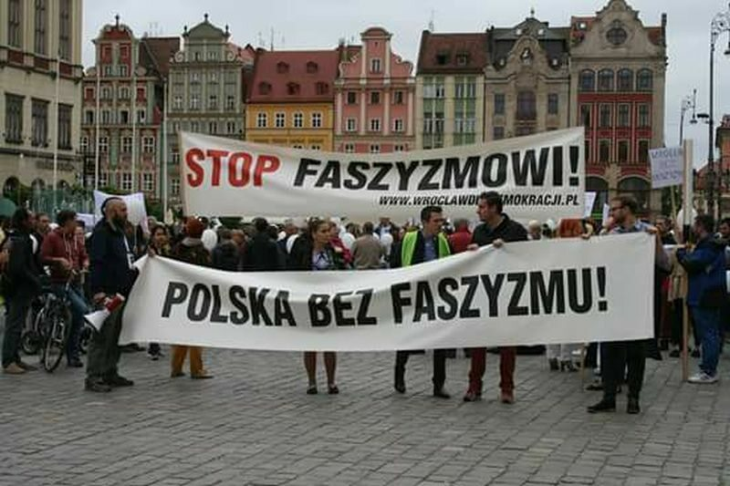 Wrocław, manifestacja antyfaszystowska (zdj. ilustracyjne)