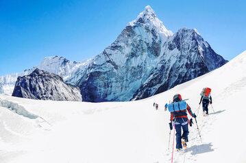Wspinacze na Mount Everest, zdjęcie ilustracyjne