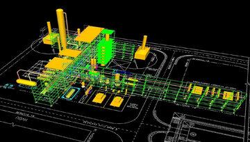 Wstępny Model 3D instalacji Hydrokrakingowego Bloku Olejowego