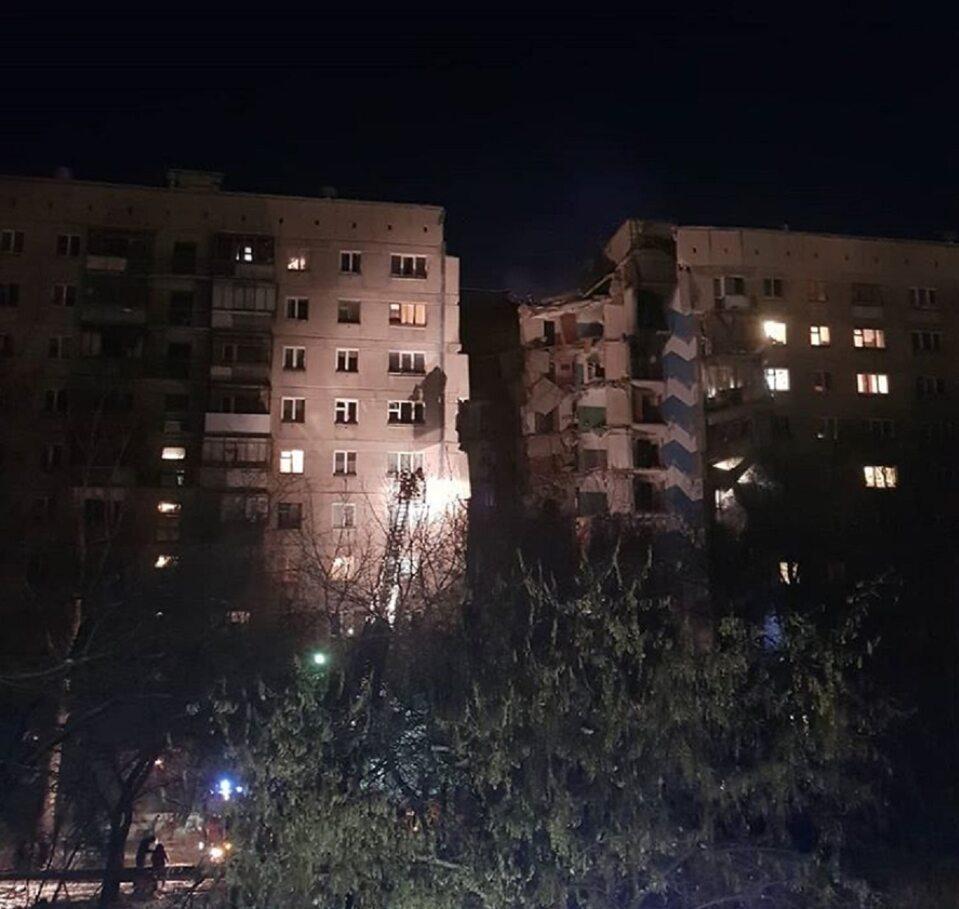 Wybuch gazu w 9-piętrowym bloku w Magnitogorsku