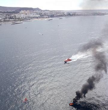 Wybuch na łodzi na Teneryfie