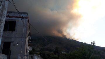 Wybuch wulkanu na Stromboli