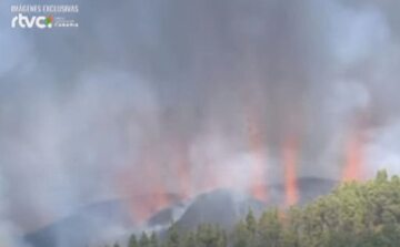 Wybuch wulkanu Teneguia na La Palmie