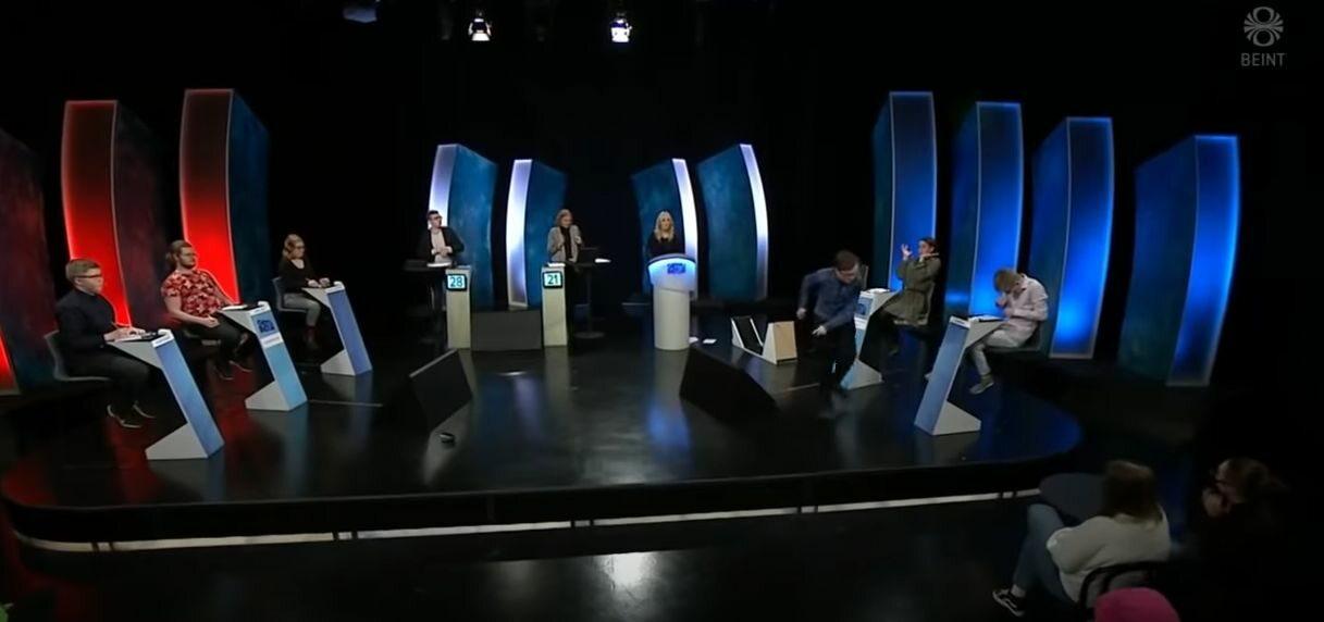 """Wybuch złości uczestnika teleturnieju  """"Gettu betur"""""""