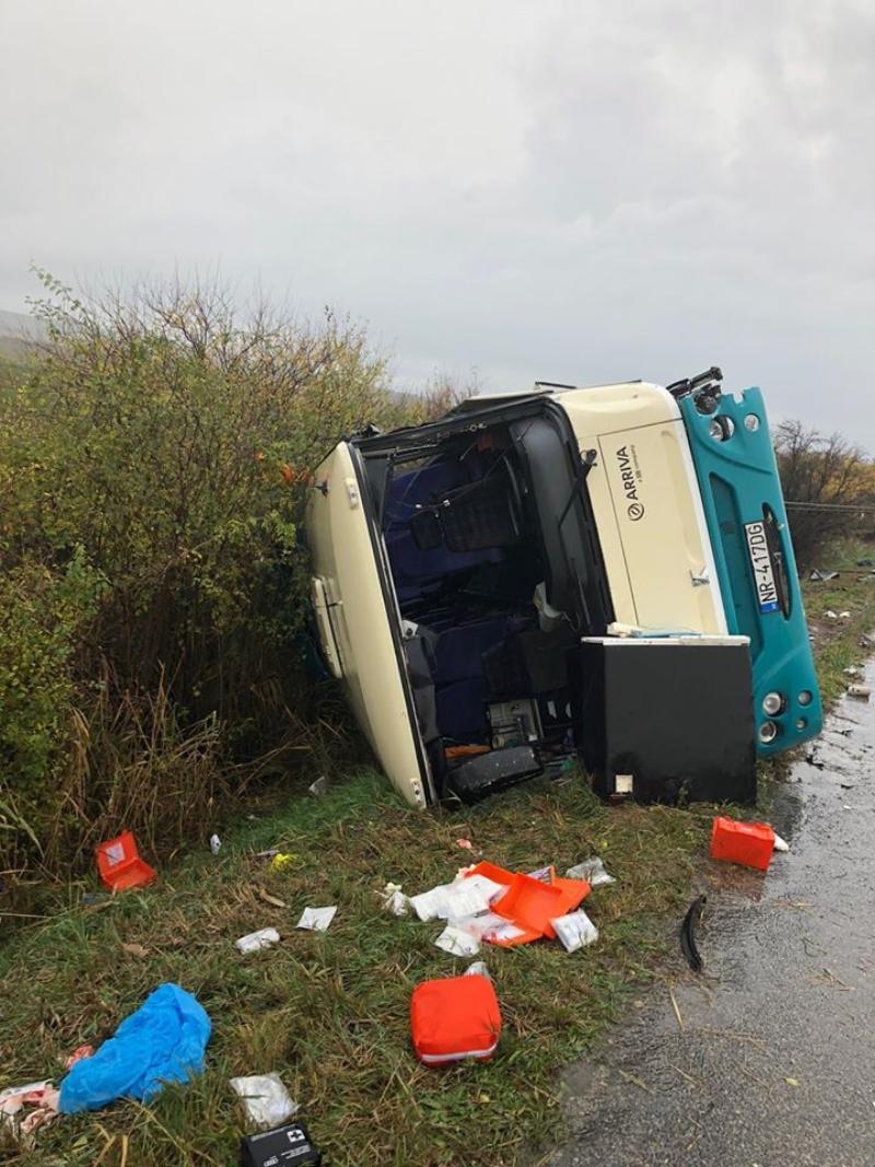 Wypadek autobusu na Słowacji