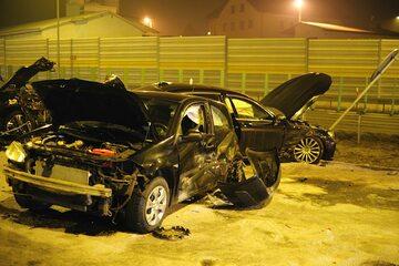 Wypadek kolumny samochodów wiozących szefa MON