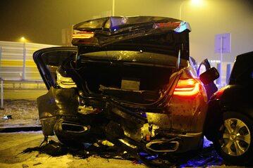 Wypadek kolumny samochodów