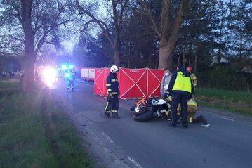 Wypadek motocyklistów w Aleksandrowie Łódzkim